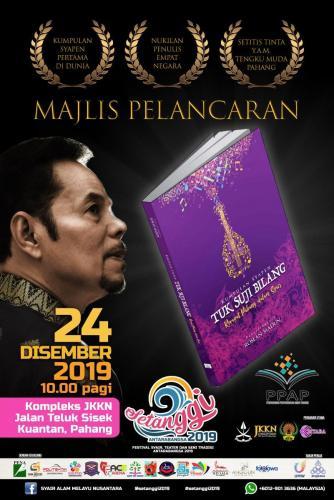 Majlis pelancaran buku syapen (syair pendek) 'Tok Suji Bilang: Riwayat Pahang dalam Syair' sempena Festival Setanggi Antarabangsa 2019